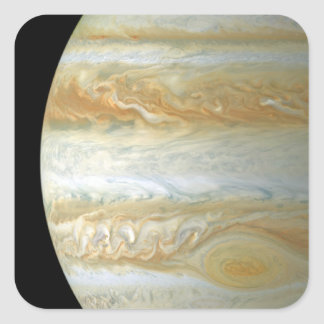 Jupiter halvklot fyrkantigt klistermärke