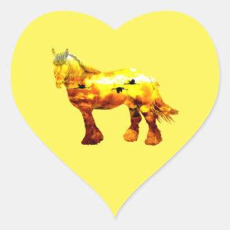 Jupiter häst hjärtformat klistermärke