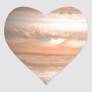Jupiter Hjärtformat Klistermärke