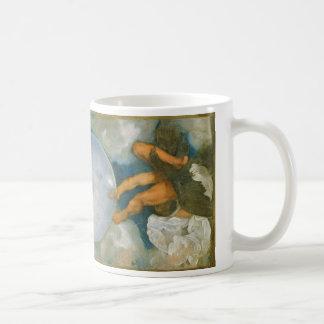 Jupiter Neptune och Pluto vid Caravaggio i 1597 Kaffemugg