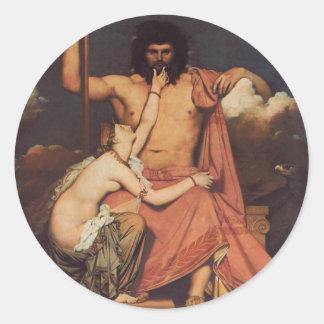 Jupiter och Thetis Runt Klistermärke