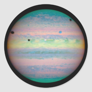 Jupiter Runt Klistermärke