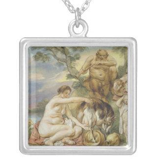 Jupiter som ett barn silverpläterat halsband
