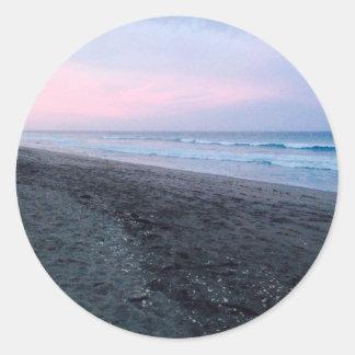 Jupiter strand runt klistermärke