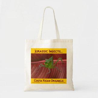 Jurassic tittar gräshoppa tygkasse