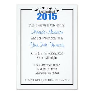 Juridisk fakultetstudenteninbjudan 2015 12,7 x 17,8 cm inbjudningskort