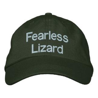Justerbar hatt för oförskräckt ödla broderad keps