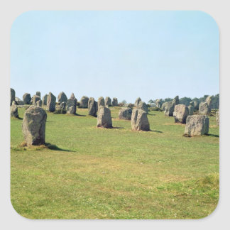 Justering av anseendestenar som är megalithic fyrkantigt klistermärke