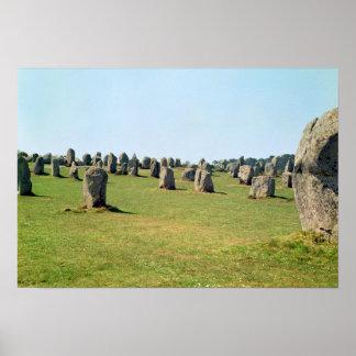 Justering av anseendestenar som är megalithic poster