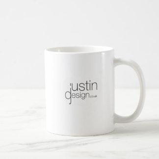 Justin designvit kaffemugg