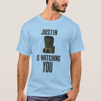 justin håller ögonen på dig version 2 tee shirt