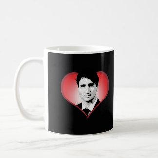 Justin Trudeau hjärta - .png Kaffemugg