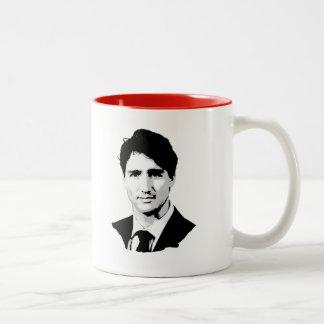 Justin Trudeau porträtt Två-Tonad Mugg
