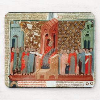 Justinian kejsare och hans domstol musmatta