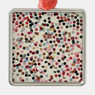Juveln tonar färgrika konfettiar pricker julgransprydnad metall