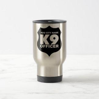 K9 kommenderar travel mug, TILLFOGAR STADSNAMN Resemugg