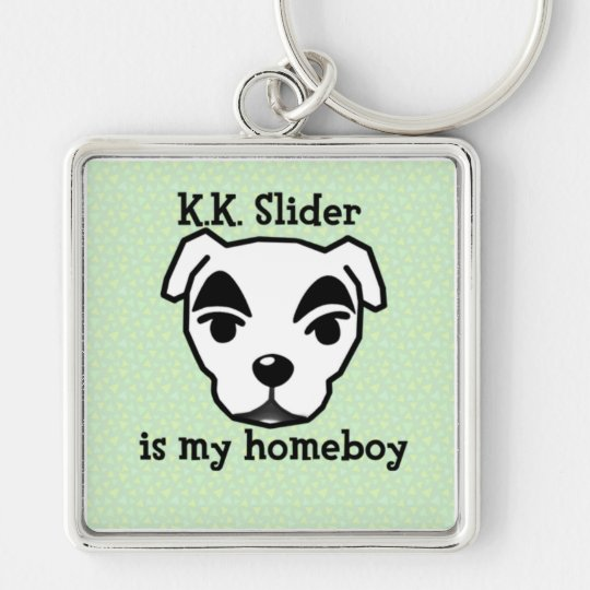 K.K. Slider is my homeboy key chain Fyrkantig Silverfärgad Nyckelring