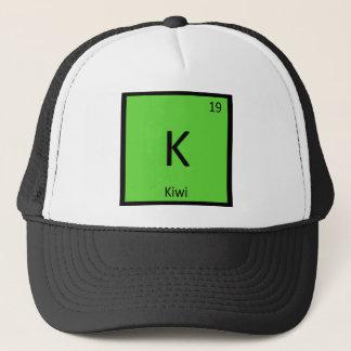 K - Symbol för bord för kiwikemi periodiskt Truckerkeps