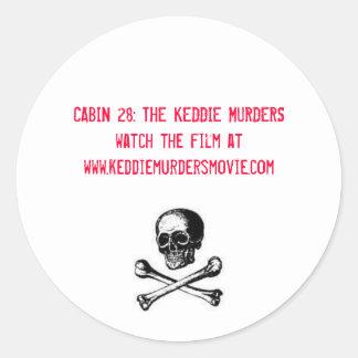 Kabin 28: De Keddie morden i rött Runt Klistermärke