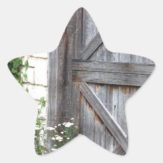 Kabin Door.JPG Stjärnformat Klistermärke