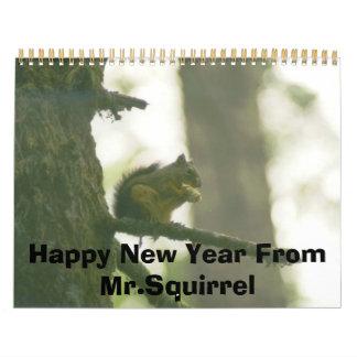 kabinekorre, gott nytt år från Mr.Squirrel Kalender