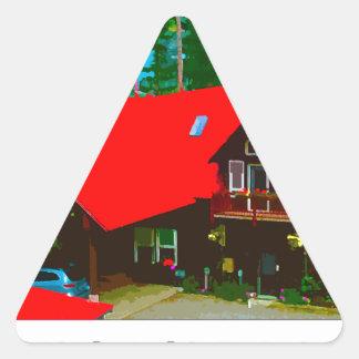 Kabinen 2 triangelformat klistermärke