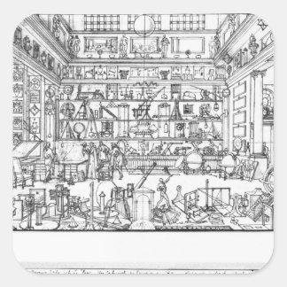 Kabinett av fysik, 1687 fyrkantigt klistermärke