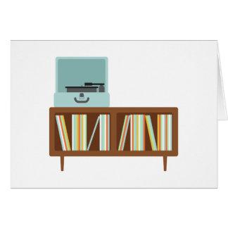 Kabinett Phonograph Hälsningskort