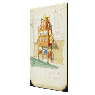 Kabinett utställning, c.1860s-70s (w/c & rita på p canvastryck