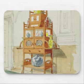 Kabinett utställning, c.1860s-70s (w/c & rita på p musmatta