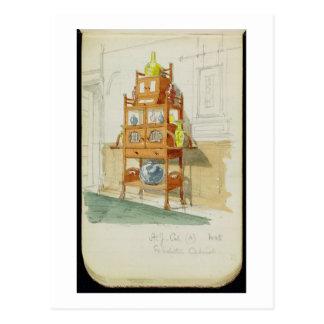 Kabinett utställning, c.1860s-70s (w/c & rita på p vykort