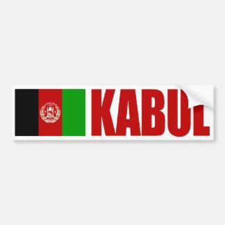 Kabul Afghanistan flagga Bildekal