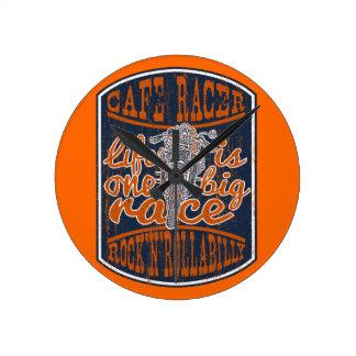 Kaff racer medium rund klocka