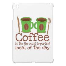 Kaffe är det viktigaste målet av dagen iPad mini mobil skal