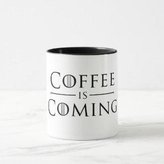 Kaffe är kommande mugg
