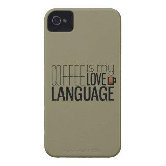 Kaffe är mitt kärlekspråk iPhone 4 Case-Mate skydd