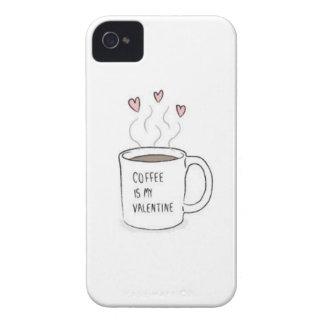 Kaffe är mitt valentinfodral iPhone 4 cases