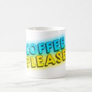 Kaffe behar vit mugg