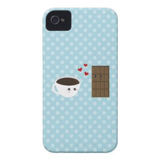 Kaffe- & chokladkärlek iPhone 4 Case-Mate fodral