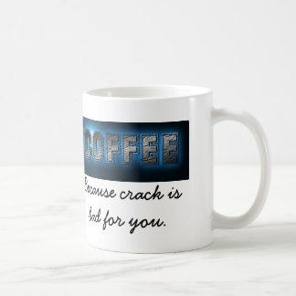 Kaffe, därför att sprickan är dåligan för dig kaffemugg