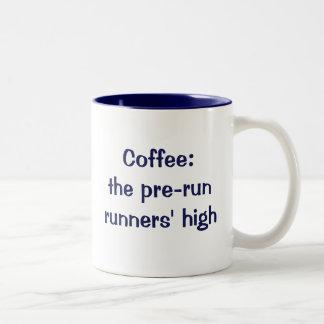 Kaffe: despringa springer kick Två-Tonad mugg
