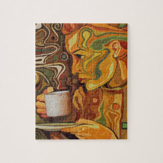 Kaffe- eller Teapussel med gåvan boxas Foto Pussel