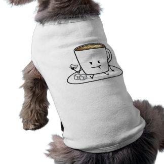 Kaffe för kaffemugglatte som äter sockerkuber, husdjurströja