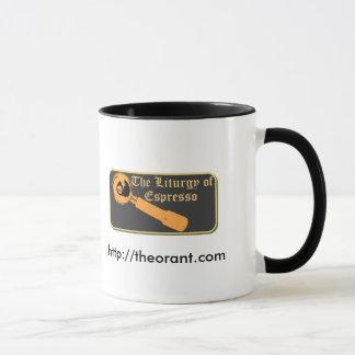 Kaffe för saintsna mugg