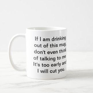 Kaffe för säker konversation kaffemugg