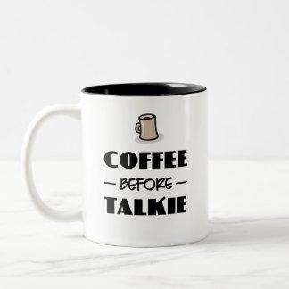 Kaffe för Talkie Två-Tonad Mugg