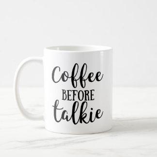 Kaffe för Talkie Vit Mugg