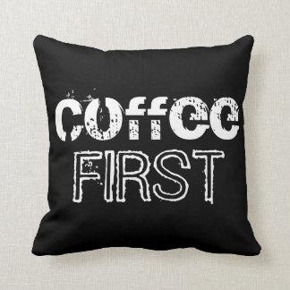 Kaffe först kudde