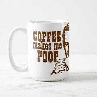 Kaffe gör mig Poop! Kaffemugg