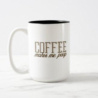 Kaffe gör mig poop Två-Tonad mugg